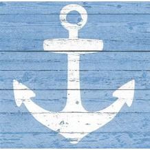 Paper+Design Servietten Tissue Anchor sign blue 25 x 25 cm 20er