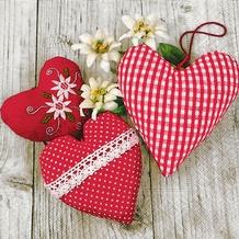 Paper+Design Servietten Tissue Bavarian hearts 25 x 25 cm 20er