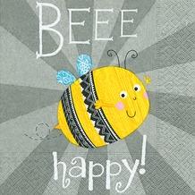 Paper+Design Servietten Tissue Beee happy 33 x 33 cm 20er