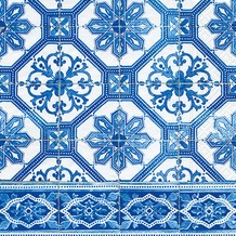 Paper+Design Servietten Tissue Blue tiles 33 x 33 cm 20er
