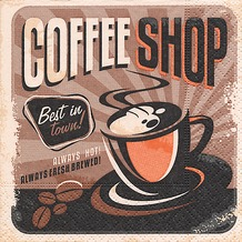 Paper+Design Servietten Tissue Coffee shop 25 x 25 cm 20er