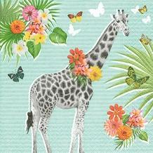 Paper+Design Servietten Tissue Giraffe garden 33 x 33 cm 20er