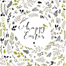 Paper+Design Servietten Tissue Happy Easter green 33 x 33 cm 20 Stück