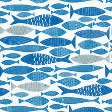 Paper+Design Servietten Tissue Shoal of fish 33 x 33 cm 20er