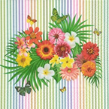 Paper+Design Servietten Tissue Tropical bouquet 33 x 33 cm 20er