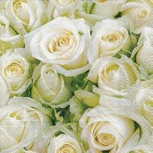 Paper+Design Servietten Tissue White roses 33 x 33 cm 20er