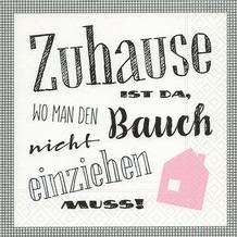 Paper+Design Servietten Tissue Zuhause 33 x 33 cm 20er