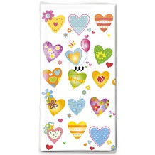 Paper+Design Taschentücher Tissue Colourful hearts 21,5 x 22 cm 10er