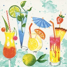 Paper+Design Tissue Servietten Colourful drinks 33 x 33 cm 20 Stück