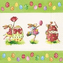 Paper+Design Tissue Servietten Easter Round Dance 25 x 25 cm 20 Stück