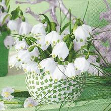 Paper+Design Tissue Servietten Spring Snowflakes 33 x 33 cm 20 Stück