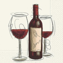 Paper+Design Tissue Servietten Vino rosso 33 x 33 cm 20 Stück