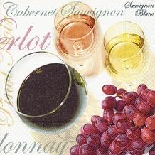 Paper+Design Tissue Servietten Wine tasting 25 x 25 cm 20 Stück