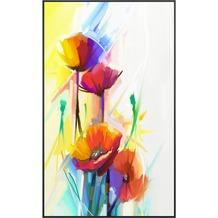 papermoon Infrarotheizung Bildheizung 60X100, ART FLOWER, Motiv 59 mit Alurahmen
