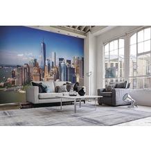 papermoon Fototapete 7 Bahnen, Digitaldruck Lower Manhattan Skyline, Tapetenbahn 50cm, Spezial Tapetenpapier, BlueBack 350 x 260 cm