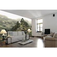 papermoon Fototapete 7 Bahnen, Digitaldruck Machu Picchu, Tapetenbahn 50cm, Spezial Tapetenpapier, BlueBack 350 x 260 cm