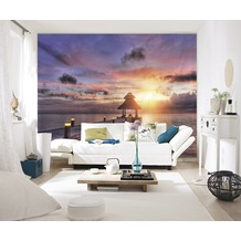 papermoon Fototapete 7 Bahnen, Digitaldruck Maldives Sunset, Tapetenbahn 50cm, Spezial Tapetenpapier, BlueBack 350 x 260 cm