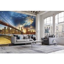 papermoon Fototapete 7 Bahnen, Digitaldruck Manhattan Sunset, Tapetenbahn 50cm, Spezial Tapetenpapier, BlueBack 350 x 260 cm