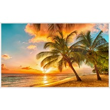 papermoon INFRAROT BILDHEIZUNG 600W, 60X100cm, Barbados Palmen Infrarotheizung