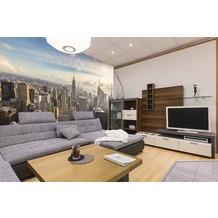 papermoon VLIES Fototapete 7 Bahnen, Digitaldruck New York City Skyline, Tapetenbahn 50cm, Spezial TapetenVlies Material, made in Germany. 350 x 260 cm