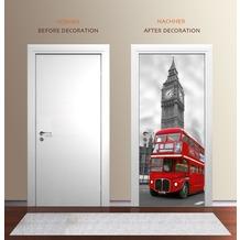 "papermoon Wand & Türdekor, Fototapete ""Tür"", Spezial Tapetenpapier, London Big Ben 90 x 200cm"