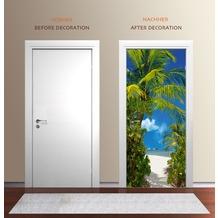 "papermoon Wand & Türdekor, Fototapete ""Tür"", Spezial Tapetenpapier, Tahiti 90 x 200cm"