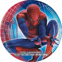 """PROCOS Papierteller mit Motiv """"The Amazing Spiderman"""", 10 Stück Ø 20 cm"""