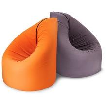 paq bed Multifunktionaler Sitzsack Liege Indoor/Outdoor Orange Bett Matratze