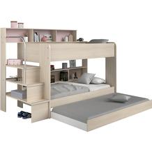 Parisot Etagenbett mit Bettschubkasten - Bibop  11 Akazie Nachbildung