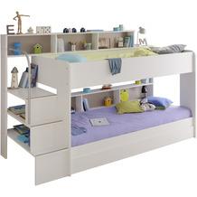 Parisot Etagenbett weiß mit Bettschubkasten -  Bibop 21 Weiß