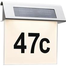 PAULMANN Outdoor Solar Hausnummernleuchte LED Edelstahl, weiß, 0,2W, IP44, 3000K