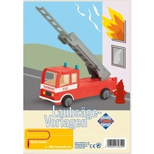 PEBARO Laubsägevorlage Feuerwehrauto