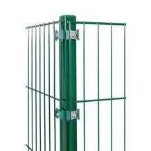 Peddy Shield Eckpfosten für Doppelstab- und Einstabmatten 1200x40x40mm in RAL 6005 - grün