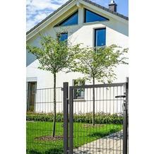 Peddy Shield Gartentor für Doppelstabmatte anthrazit (RAL 7016) - einflügelig - 80 cm