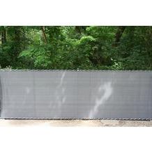 Peddy Shield Sichtschutz HDPE, anthrazit, incl. Kordel, 80 cm x 500 cm Länge