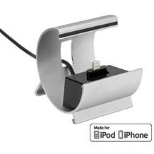 Pedea Dockingstation COLOR-DOCKS Lightning für Apple, silber