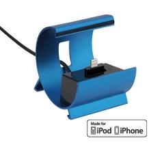 Pedea Dockinstation für Apple iPhone SE/6/6 Plus/5/5S/5C, blau