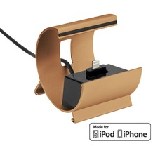 Pedea Dockinstation für Apple iPhone SE/6/6 Plus/5/5S/5C, gold