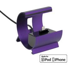 Pedea Dockinstation für Apple iPhone SE/6/6 Plus/5/5S/5C, iPurple
