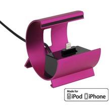 Pedea Dockinstation für Apple iPhone SE/6/6 Plus/5/5S/5C, pink