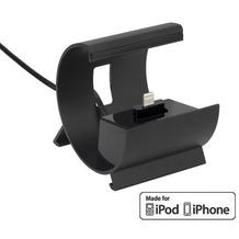 Pedea Dockinstation für Apple iPhone SE/6/6 Plus/5/5S/5C, schwarz