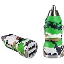 Pedea Dual-USB KFZ Adapter Fashion, 2.1A, camo