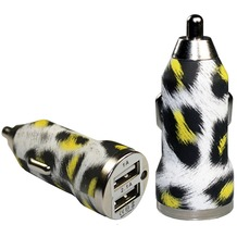Pedea Dual-USB KFZ Adapter Fashion, 2.1A, leopard