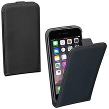 Pedea Flip Classic + Glasschutzfolie f. iPhone 7 Plus Schwarz