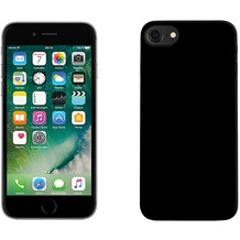 Pedea Soft TPU Case (glatt) für Apple iPhone 7 / 8, mattschwarz