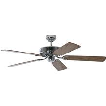 Pepeo Deckenventilator Potkuri Stahl, Flügel Eiche mit Rattaneinlage, 132 cm