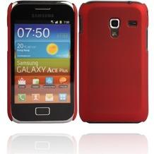 Twins Shield Matte für Samsung S7500 Galaxy Ace Plus, metallic-rot