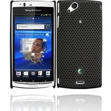 Twins Perforated für Sony Ericsson Xperia Arc/Arc S, schwarz