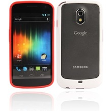 Twins 2Color Bumper für Samsung i9250 Galaxy Nexus, rot-weiß