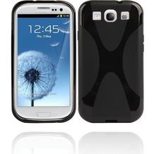 Twins Bright X-Splotch für Samsung Galaxy S3, schwarz